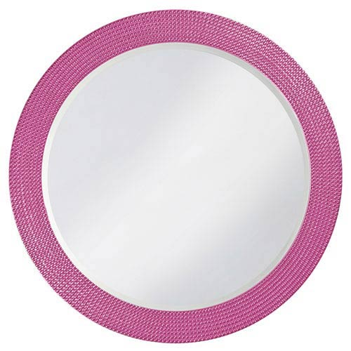 Howard Elliott Collection Lancelot Hot Pink Round Mirror