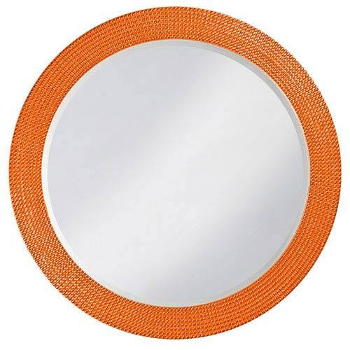 Howard Elliott Collection Lancelot Glossy Orange Round Mirror