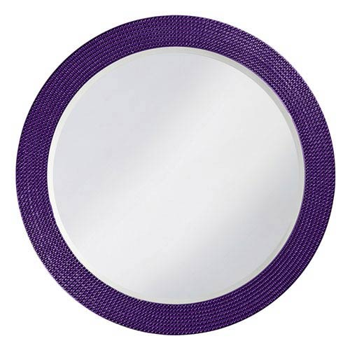 Howard Elliott Collection Lancelot Royal Purple Round Mirror