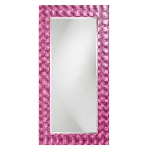 Howard Elliott Collection Lancelot Glossy Hot Pink Rectangle Mirror