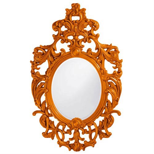 Howard Elliott Collection Dorsiere Orange Oval Mirror