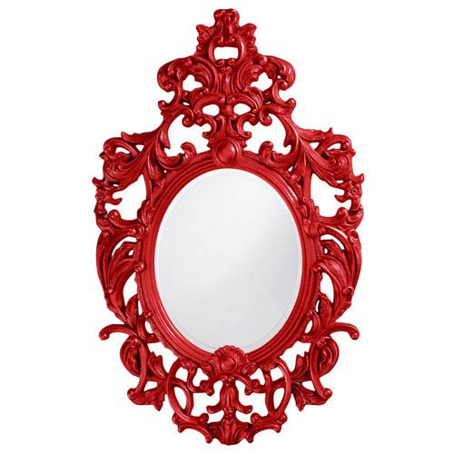 Howard Elliott Collection Dorsiere Red Oval Mirror