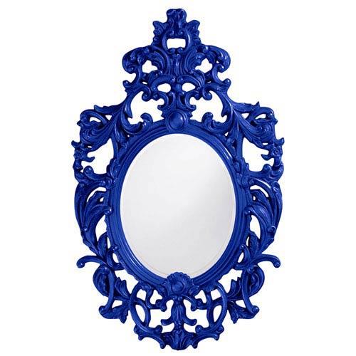 Howard Elliott Collection Dorsiere Royal Blue Oval Mirror