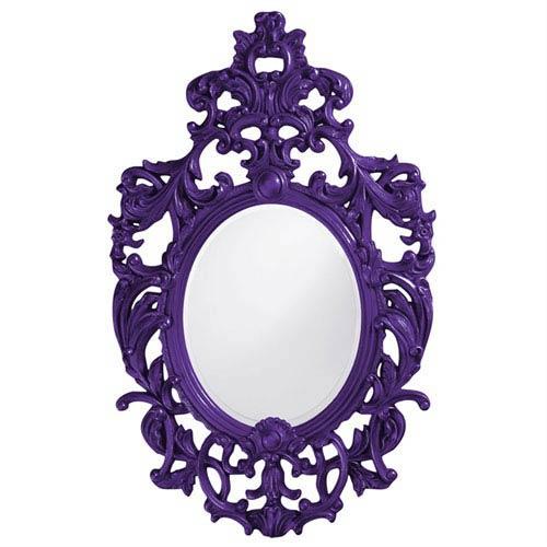 Howard Elliott Collection Dorsiere Royal Purple Oval Mirror