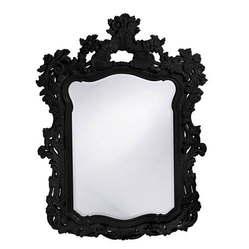 Howard Elliott Collection Turner Black 1-Inch Rectangle Mirror