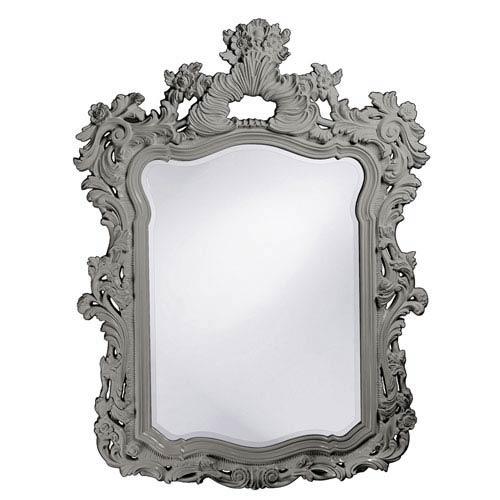Howard Elliott Collection Turner Glossy Nickel Rectangle Mirror