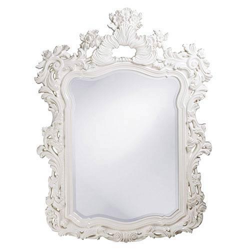 Howard Elliott Collection Turner White Rectangle Mirror