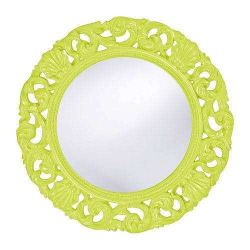 Glendale Green Round Mirror