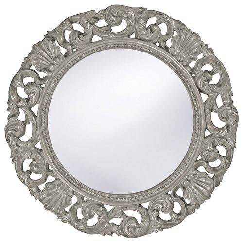 Howard Elliott Collection Glendale Glossy Nickel Round Mirror