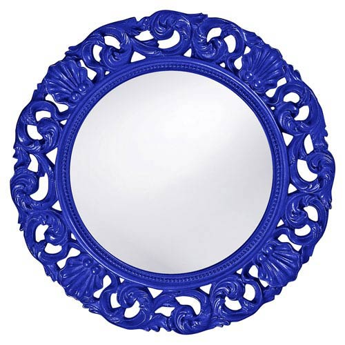 Howard Elliott Collection Glendale Royal Blue Round Mirror