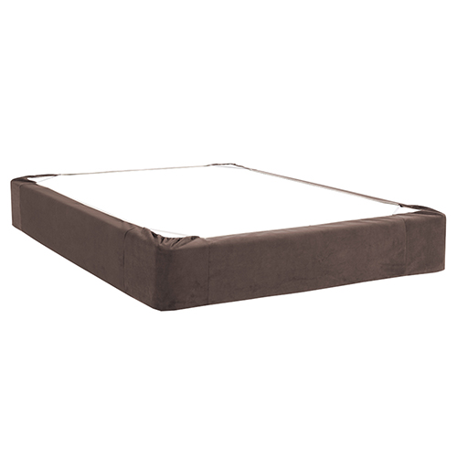 Bella Chocolate Queen Boxspring Cover