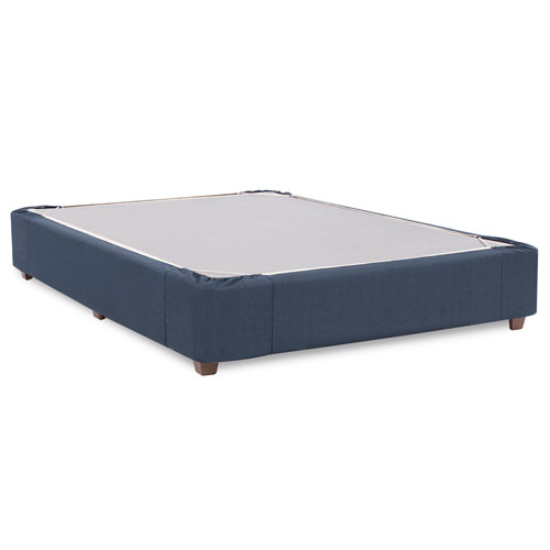 Howard Elliott Collection Sterling Indigo Queen Boxspring Kit and Cover