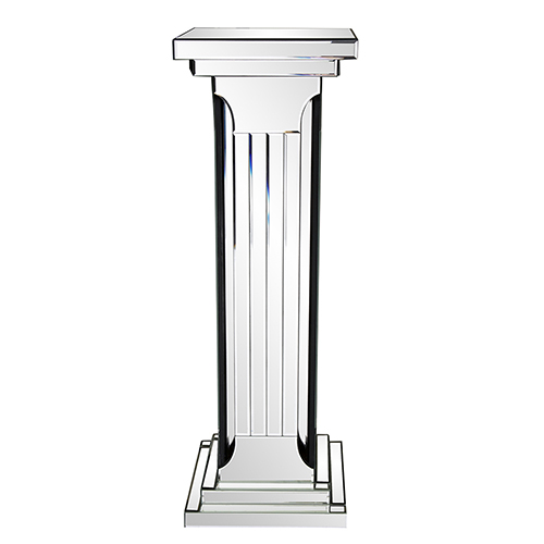 Mirrored Doric Style Pedestal Table