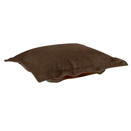 Howard Elliott Collection Bella Chocolate Puff Ottoman Cushion
