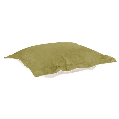 Bella Moss Green Puff Ottoman Cushion