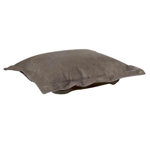 Bella Pewter Puff Ottoman Cushion