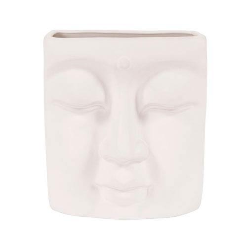 Peaceful Ceramic Buddha Wall Vase
