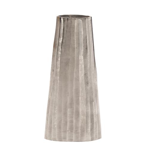 Silver Chiseled Metal Vase