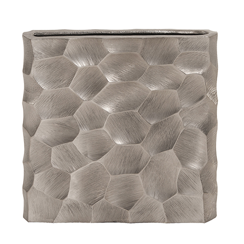 Howard Elliott Collection Hammered Aluminum Flat Vase Graphite