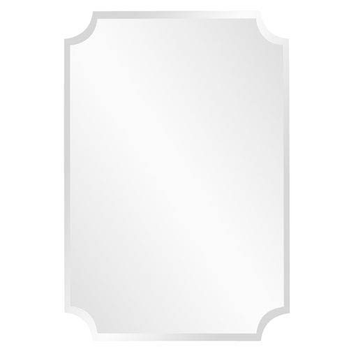 Howard Elliott Collection Rectangle Scalloped Frameless Mirror