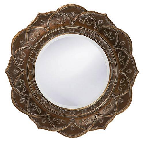 Howard Elliott Collection Erica Bronze Round Mirror