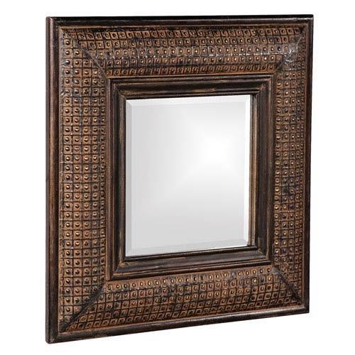Howard Elliott Collection Grant Antique Brown Square Mirror