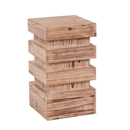 Howard Elliott Collection Stepped Natural Wood Small Pedestal