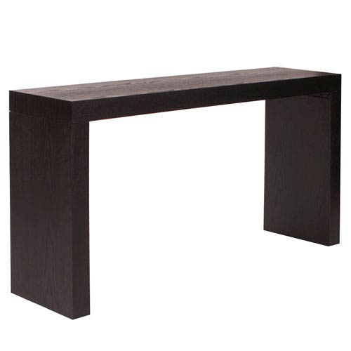 Jennifer Black Wood Grain Veneer Console Table