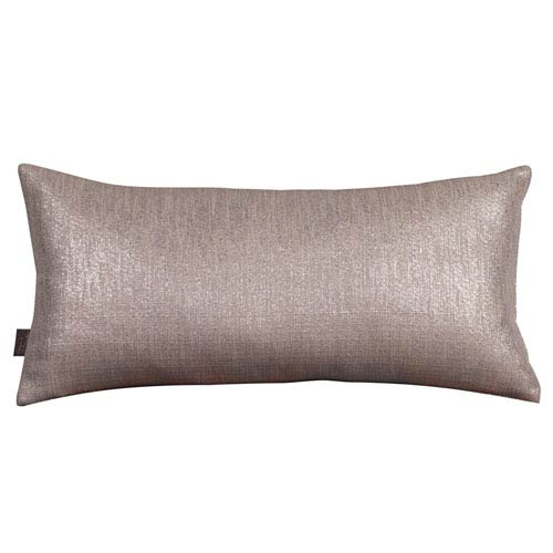 Glam Pewter Kidney Pillow with Down Insert