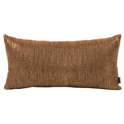 Glam Chocolate Kidney Pillow with Down Insert