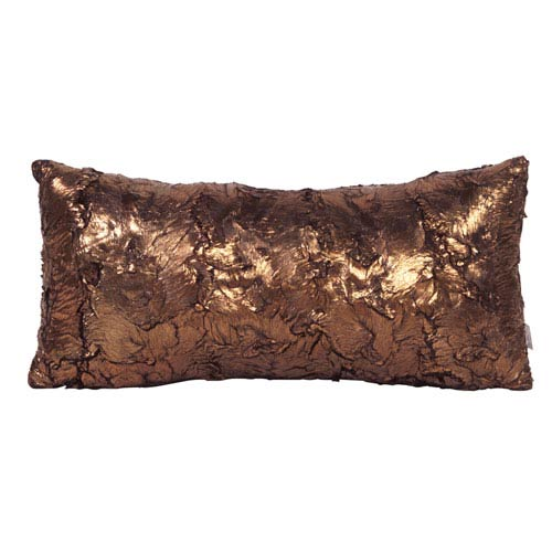 Gold Cougar Kidney Pillow with Down Insert