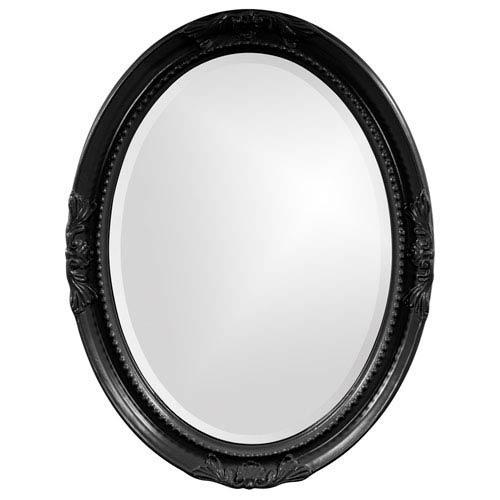 Howard Elliott Collection Queen Ann Black Oval Mirror