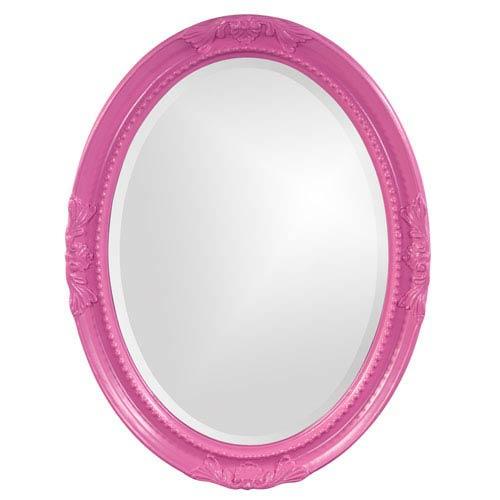 Queen Ann Hot Pink Oval Mirror