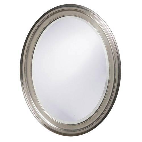 George Nickel Oval Mirror