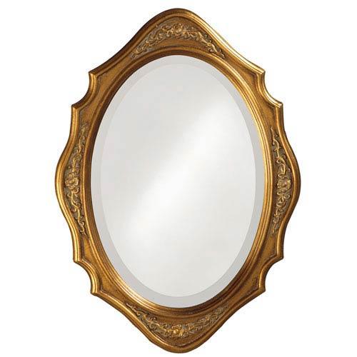 Howard Elliott Collection Trafalga Gold Oval Mirror