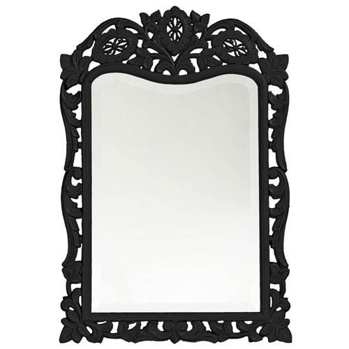 Howard Elliott Collection St. Augustine Black Rectangle Mirror