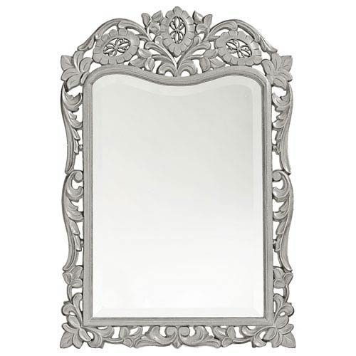 Howard Elliott Collection St. Agustine Glossy Nickel Rectangle Mirror