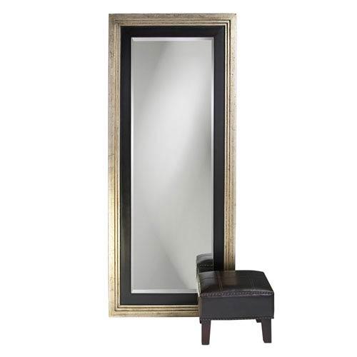 Dawson Silver and Black Leaner Rectangle Mirror