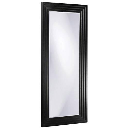 Howard Elliott Collection Delano Black Tall Rectangle Mirror