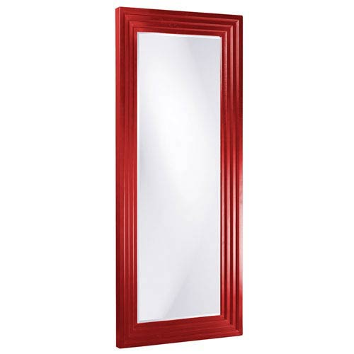 Howard Elliott Collection Delano Red Tall Rectangle Mirror