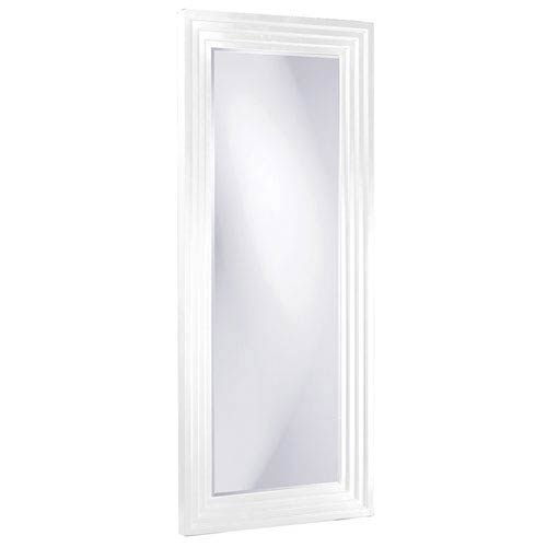 Howard Elliott Collection Delano White Tall Rectangle Mirror