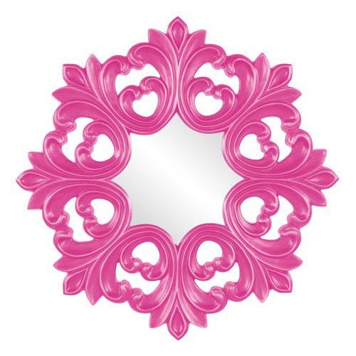 Annabelle Hot Pink Octagonal Baroque Mirror