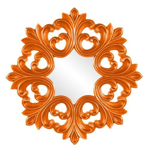 Howard Elliott Collection Annabelle Orange Round Baroque Mirror