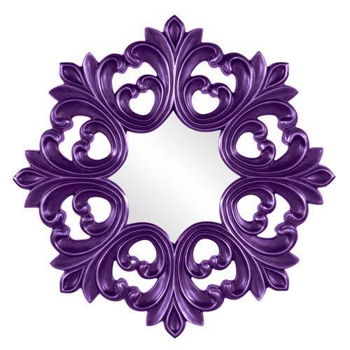 Howard Elliott Collection Annabelle Royal Purple Round Mirror