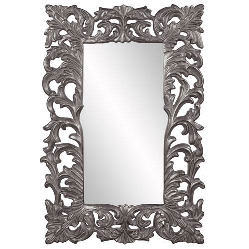 Howard Elliott Collection Augustus Glossy Charcoal Mirror