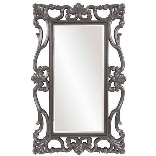 Howard Elliott Collection Whittington Charcoal Gray Mirror