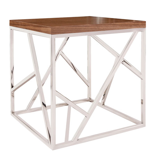 Angles Silver Side Table