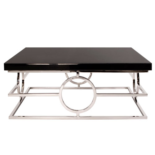 Howard Elliott Collection Stainless Steel Coffee Table