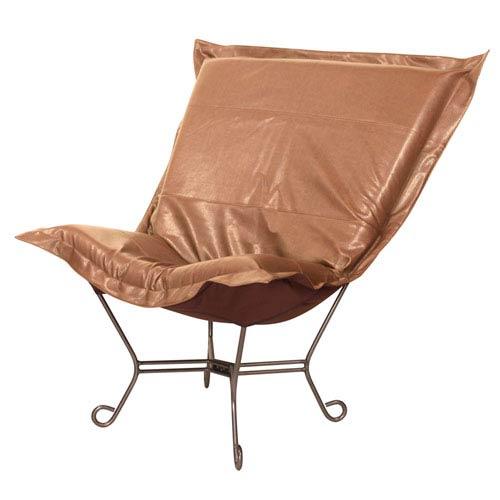 Avanti Bronze 40-Inch Puff Chair with Titanium Frame