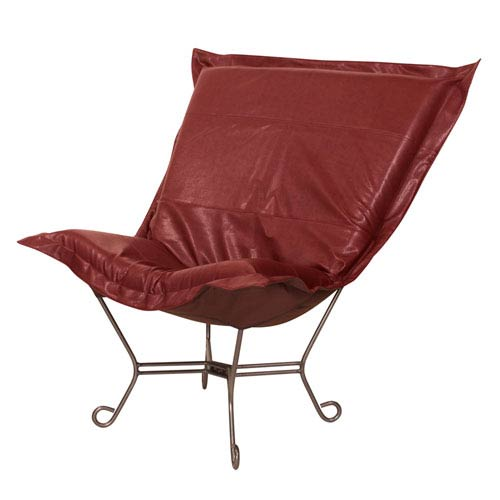 Avanti Apple 40-Inch Puff Chair with Titanium Frame
